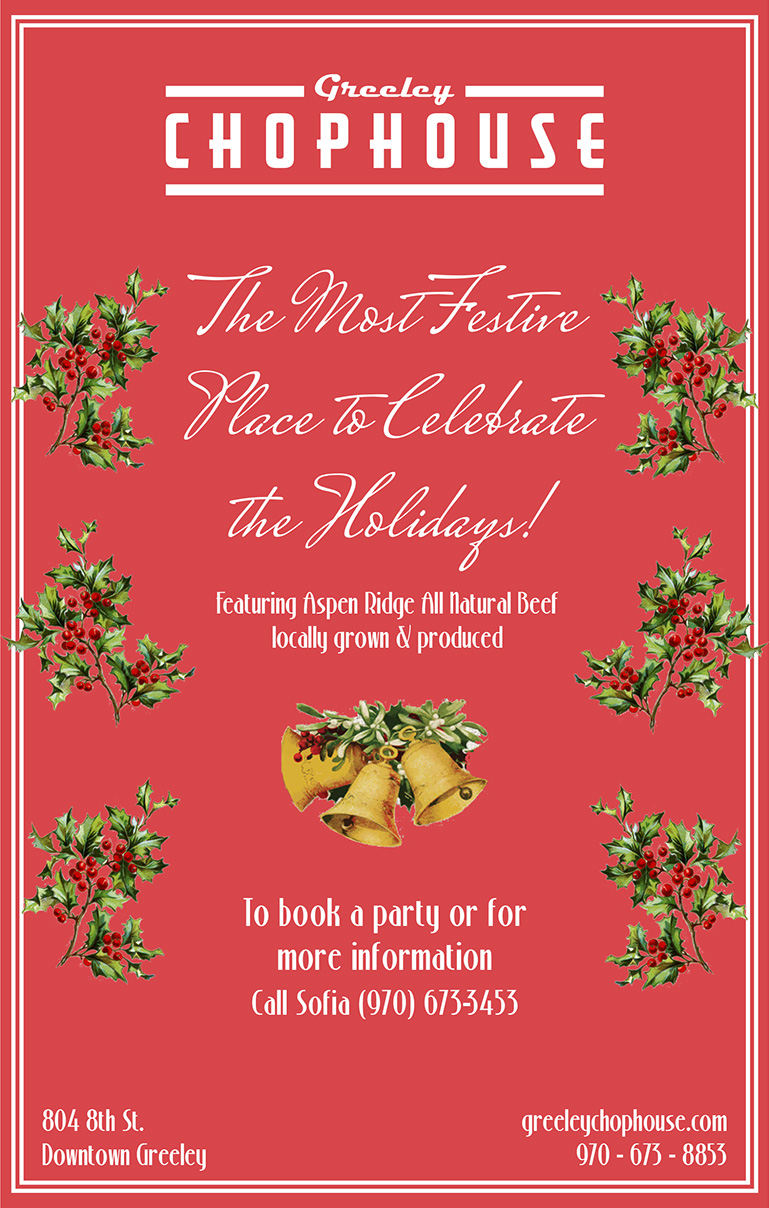 Christmas Flyers.Greeley Chophouse Christmas Flyer Consider It There